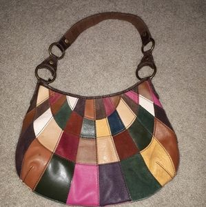 Lucky brand leather,seude multiple colors hobo bag